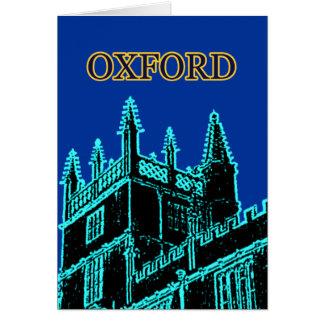 Oxford England 1986 Building Spirals Cyan Card