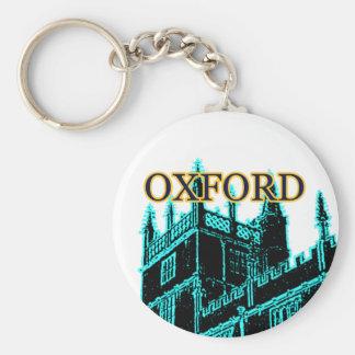 Oxford England 1986 Building Spirals Cyan Keychain