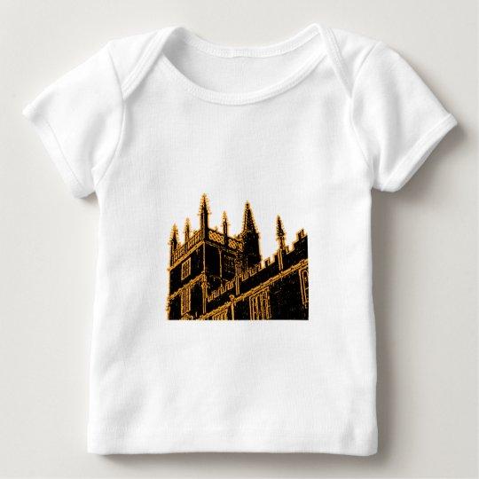 Oxford England 1986 Building Spirals Gold Baby T-Shirt