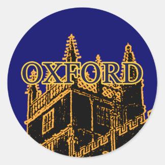Oxford England 1986 Building Spirals Gold Classic Round Sticker