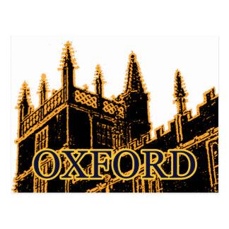 Oxford England 1986 Building Spirals Gold Postcard