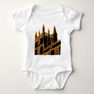 Oxford England 1986 Building Spirals Gold Tee Shirt