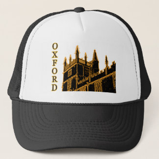 Oxford England 1986 Building Spirals Gold Trucker Hat
