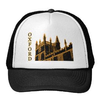 Oxford England 1986 Building Spirals Gold Trucker Hat