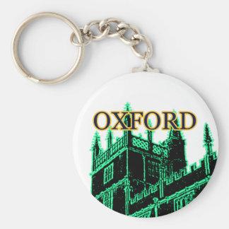Oxford England 1986 Building Spirals Green Basic Round Button Keychain
