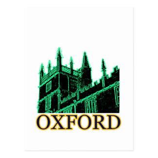Oxford England 1986 Building Spirals Green Postcard