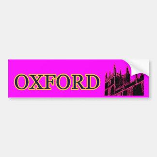 Oxford England 1986 Building Spirals Magenta Bumper Sticker