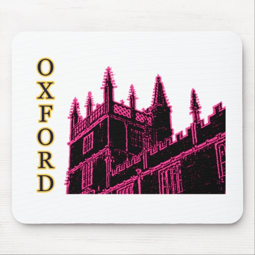Oxford England 1986 Building Spirals Magenta Mouse Pad