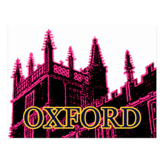 Oxford England 1986 Building Spirals Magenta Postcard