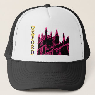 Oxford England 1986 Building Spirals Magenta Trucker Hat