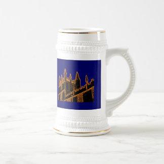 Oxford England 1986 Building Spirals Orange Mugs