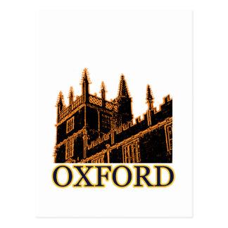 Oxford England 1986 Building Spirals Orange Postcard