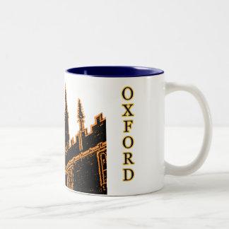 Oxford England 1986 Building Spirals Orange Two-Tone Coffee Mug
