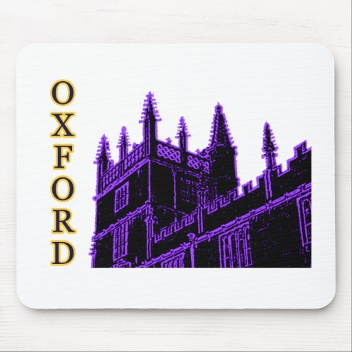 Oxford England 1986 Building Spirals Purple Mouse Pad