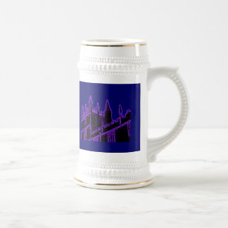 Oxford England 1986 Building Spirals Purple Mug