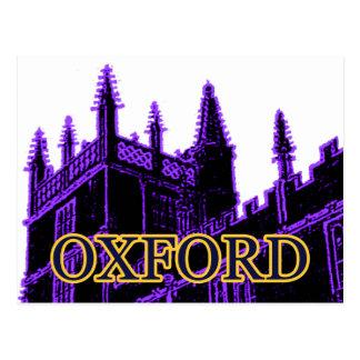 Oxford England 1986 Building Spirals Purple Postcard