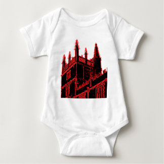 Oxford England 1986 Building Spirals Red Baby Bodysuit