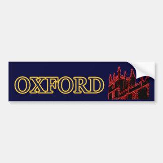 Oxford England 1986 Building Spirals Red Bumper Sticker