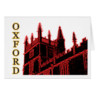 Oxford England 1986 Building Spirals Red Card