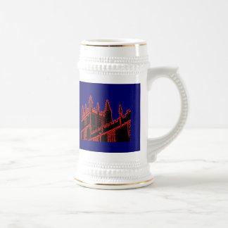 Oxford England 1986 Building Spirals Red Coffee Mug