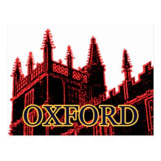 Oxford England 1986 Building Spirals Red Postcard