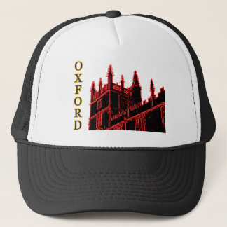 Oxford England 1986 Building Spirals Red Trucker Hat