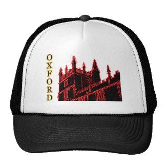 Oxford England 1986 Building Spirals Red Trucker Hat
