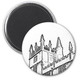 Oxford England 1986 Building Spirals White 2 Inch Round Magnet