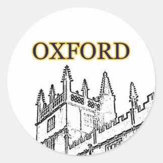 Oxford England 1986 Building Spirals White Classic Round Sticker