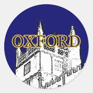 Oxford England 1986 Building Spirals White jGibney Round Sticker