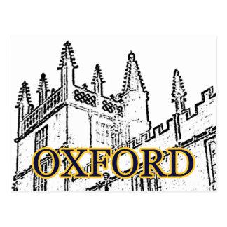 Oxford England 1986 Building Spirals White Postcard