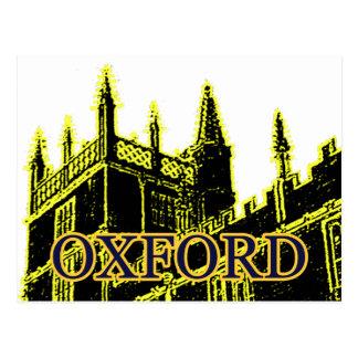 Oxford England 1986 Building Spirals Yellow Postcard