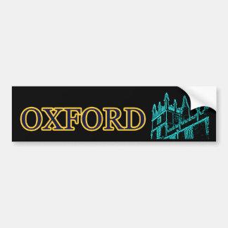 Oxford England Building Spirals Cyan Black jGibney Bumper Sticker