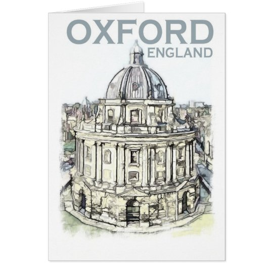 Oxford England Card