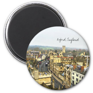 Oxford, England, High St View 2 Inch Round Magnet