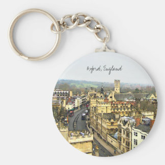 Oxford, England, High St View Key Chain