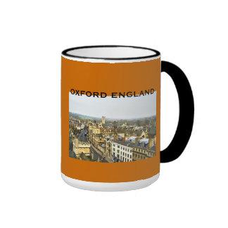 Oxford, England, High St View Ringer Coffee Mug