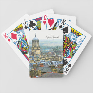 Oxford, England, Roof Top View Bicycle Playing Cards