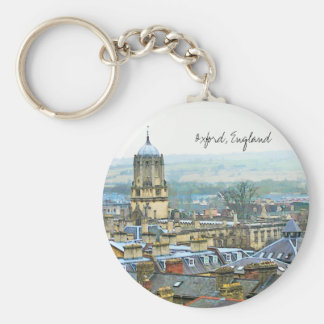 Oxford, England, Roof Top View Keychain
