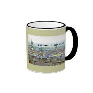 Oxford, England, Roof Top View Ringer Coffee Mug