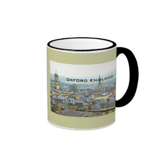 Oxford, England, Roof Top View Ringer Coffee Mug