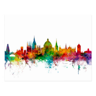 Oxford England Skyline Postcard