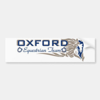 Oxford Equestrian Team Bumper Sticker