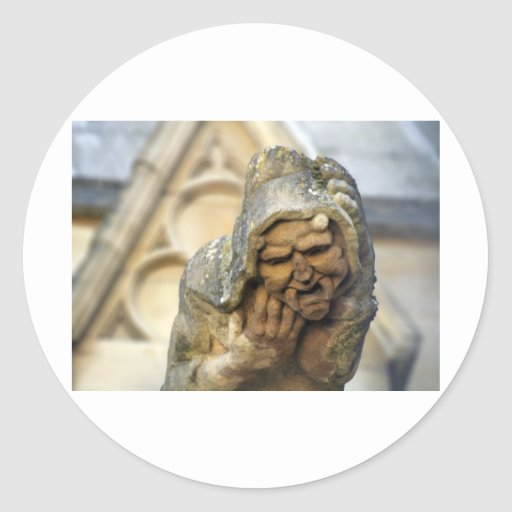 Oxford Gargoyle Round Stickers