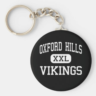 Oxford Hills - Vikings - South Paris Basic Round Button Keychain