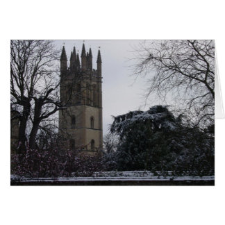 Oxford in the Snow Card
