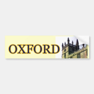 Oxford Inglaterra 1986 espirales constructivos 1 Etiqueta De Parachoque