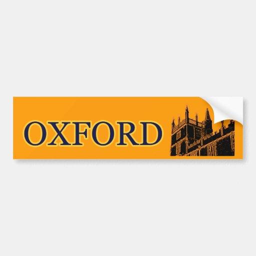 Oxford Inglaterra 1986 espirales constructivos ana Etiqueta De Parachoque