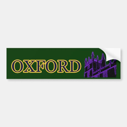 Oxford Inglaterra 1986 espirales constructivos púr Etiqueta De Parachoque