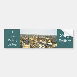 ¡Oxford, Inglaterra, alta opinión del St, simpleme Etiqueta De Parachoque